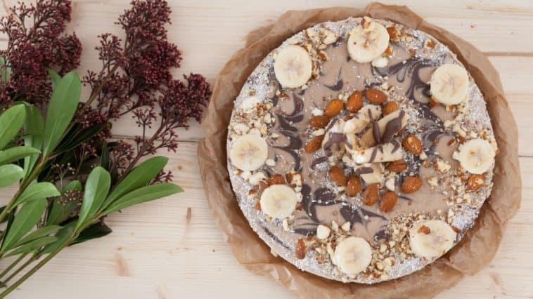 raw vegan cake with nuts