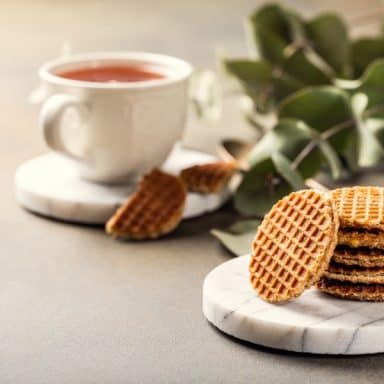 French galette Belgian waffle iron cookies