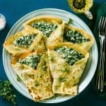 Super creamy spinach crepes with ricotta cheese