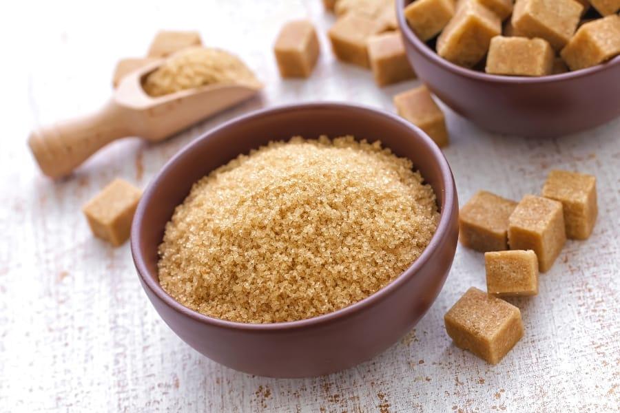 bowl of light brown sugar