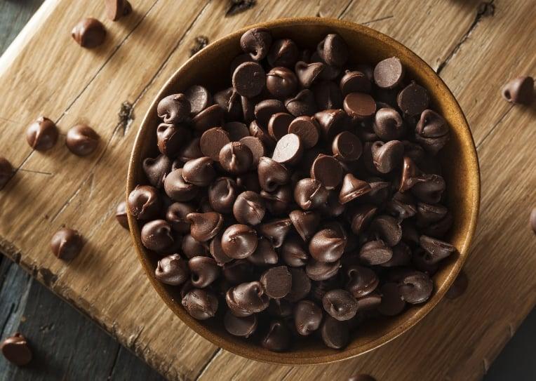 bowl of sugar free chocolate chips
