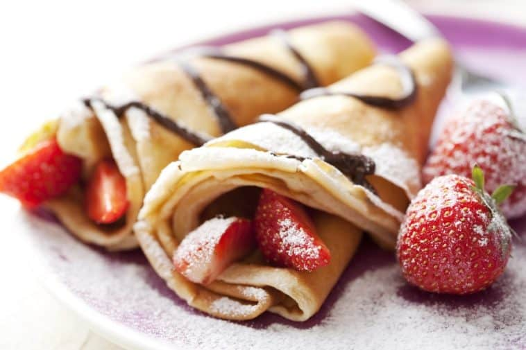 breakfast crepes on plate