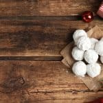 powdered sugar coated butternut cookies