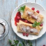raspberry cheese blintzes