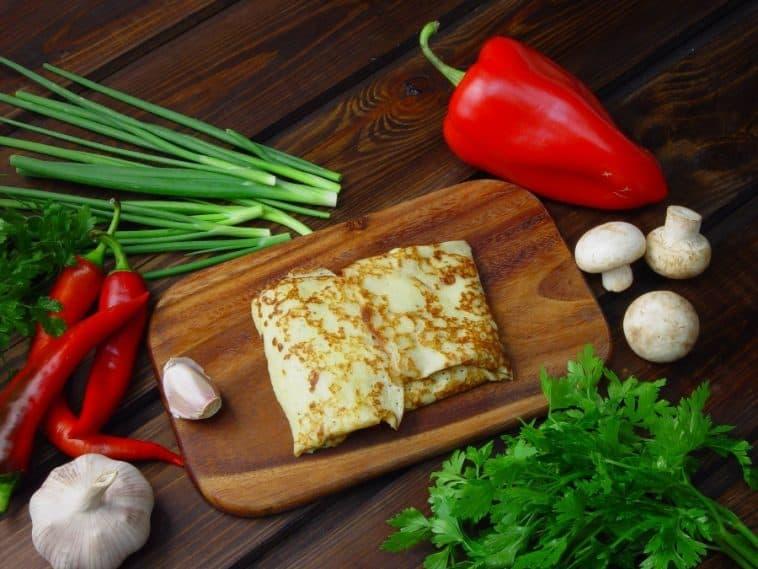 tasty chili verde crepes
