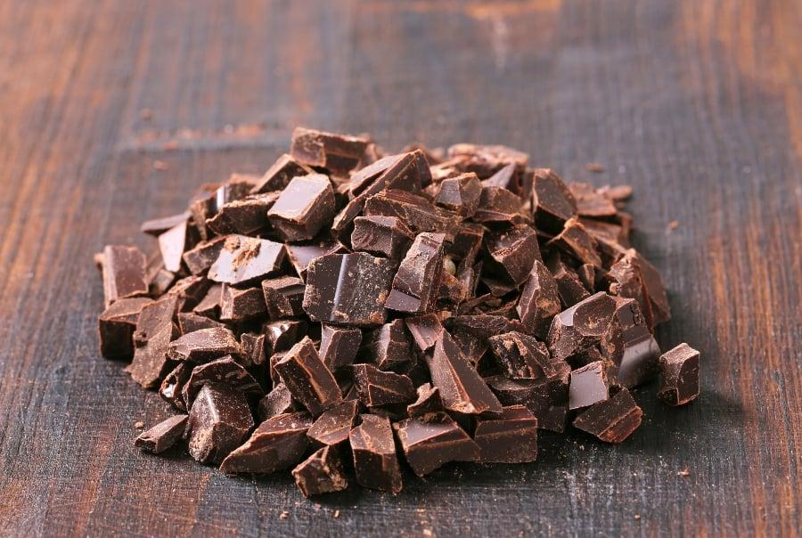 chocolate chunks on table