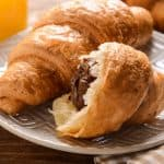 chocolate filled pastry puffs