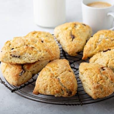 coffee scones on platter