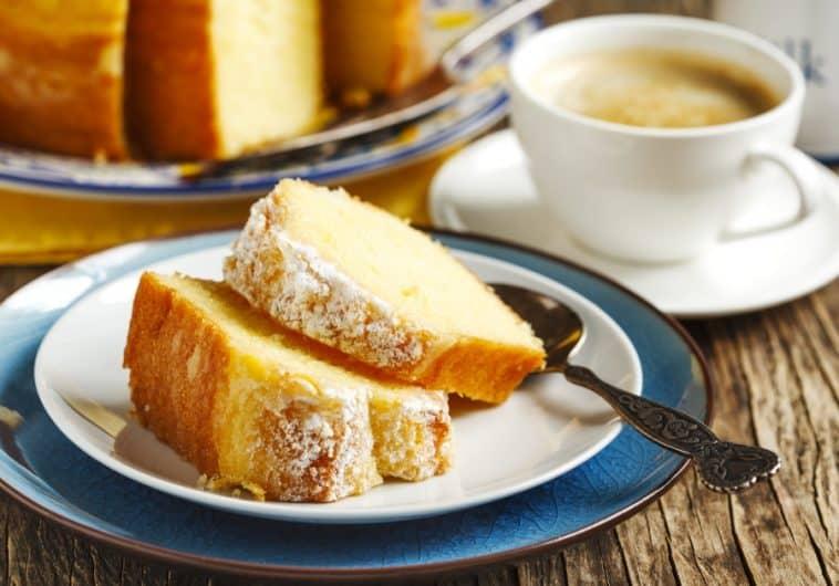 lemon cake on plate