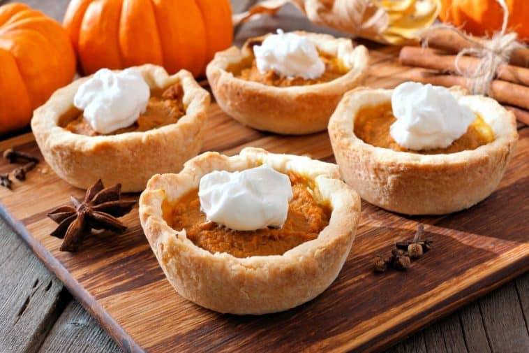 pumpkin pie poppers mini pies