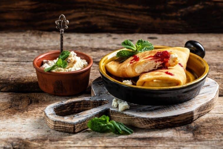 gorgonzola cheese crepes