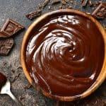 chocolate ganache in bowl