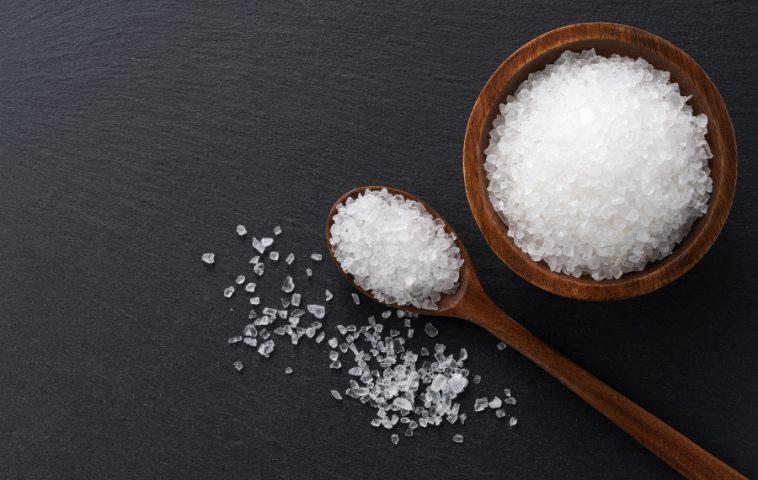 bowl and scoop of rock salt