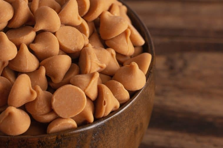 bowl of butterscotch chips