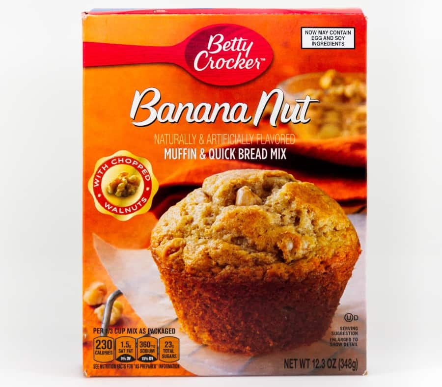 box of Betty Crocker muffin mix