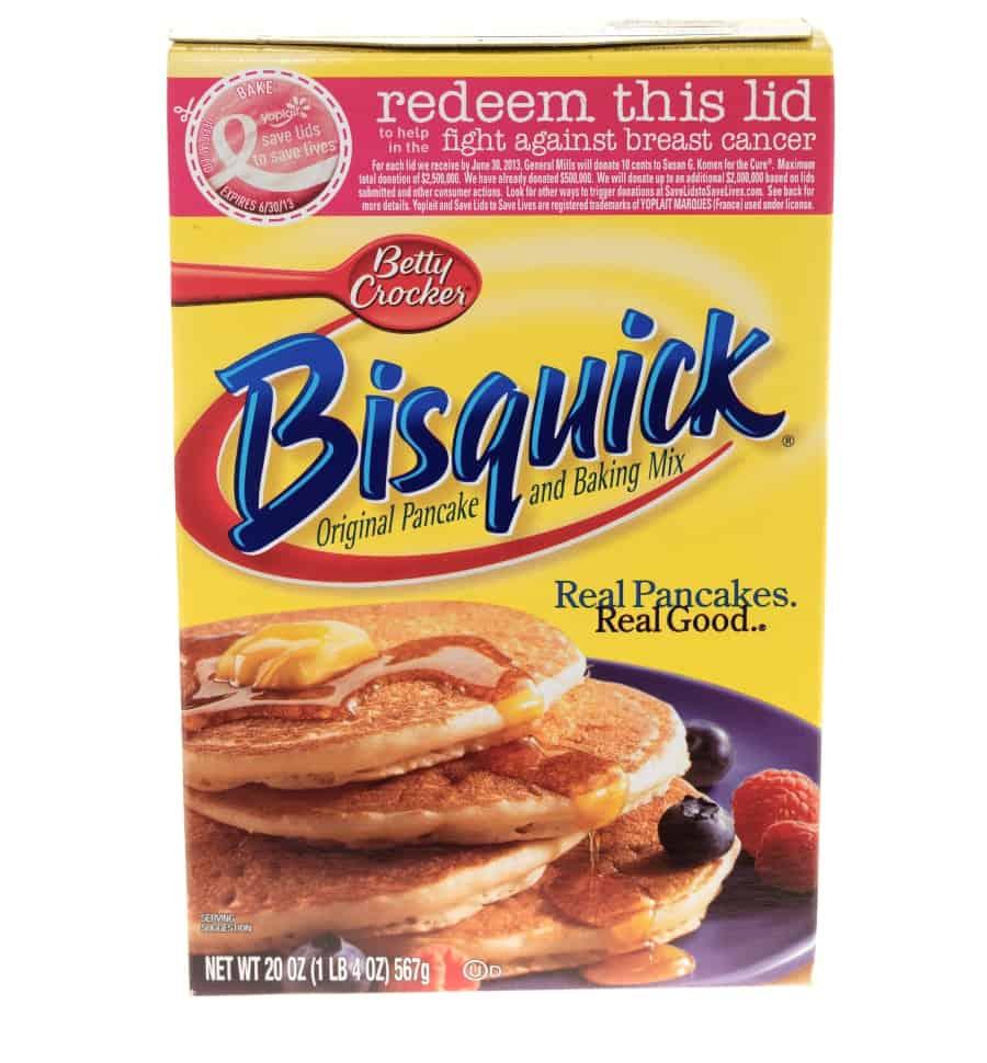 box of bisquick pancake mix