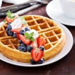 fruit covered waffles