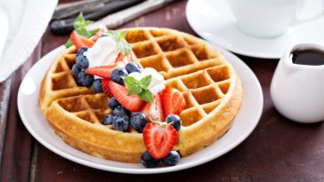 fruit covered waffles