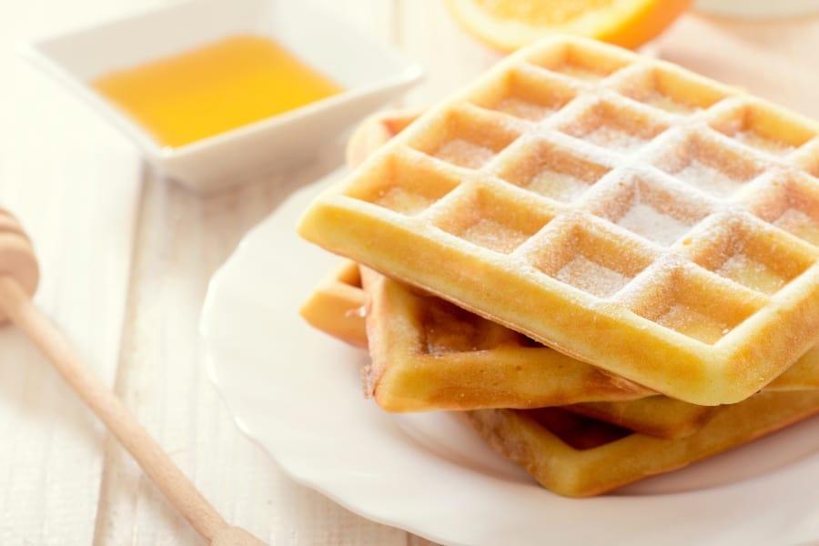 homemade waffles on a plate
