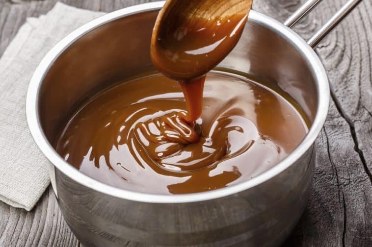 pot of caramel