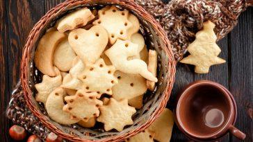 sugar cookies in basket