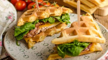 waffle sandwich with turkey