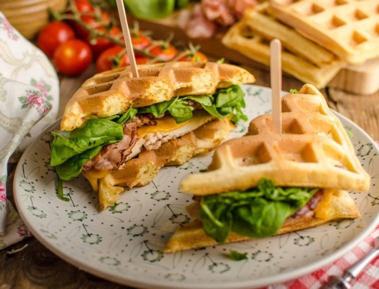 waffle sandwich with turkey