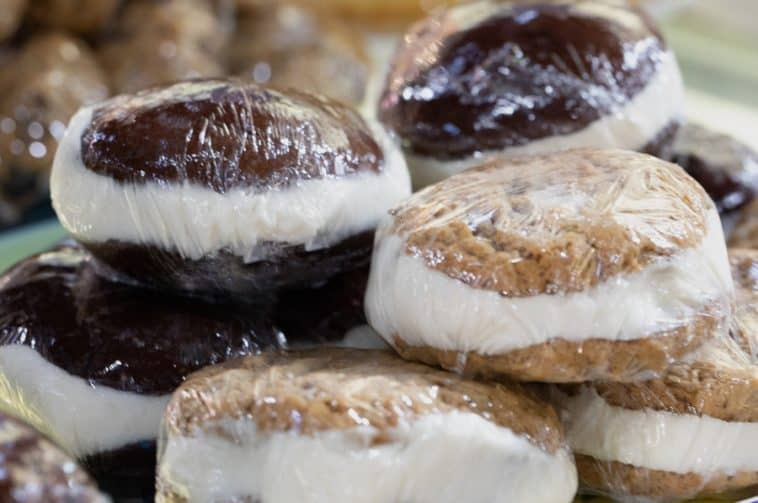 wrapped whoopie pies
