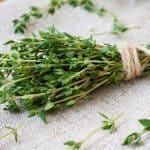 bundle of fresh thyme