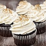 buttercream frosted chocolate cupcakes
