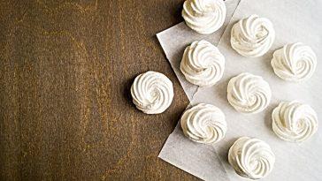 meringue cookies on table
