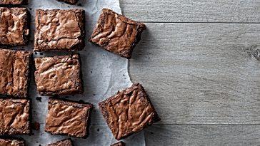 table of brownies