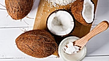 coconuts and coconut butter with spoon