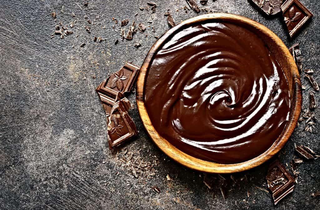 bowl of chocolate ganache