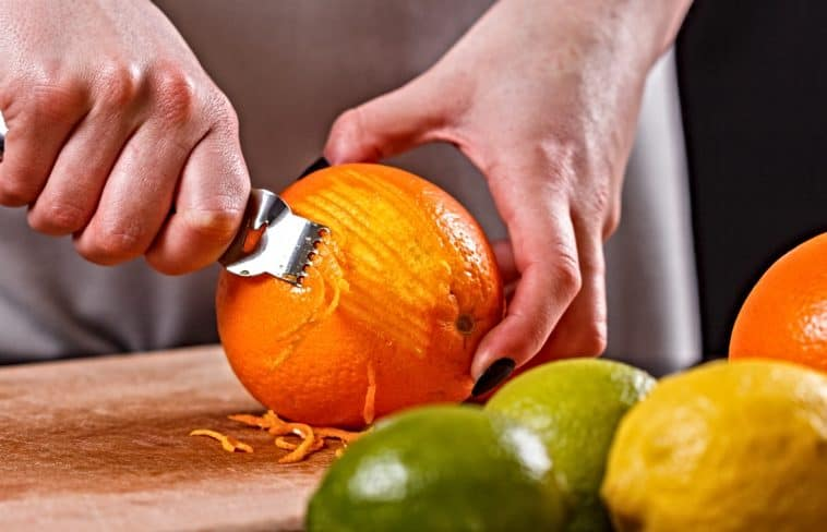 orange zest with lemons and limes