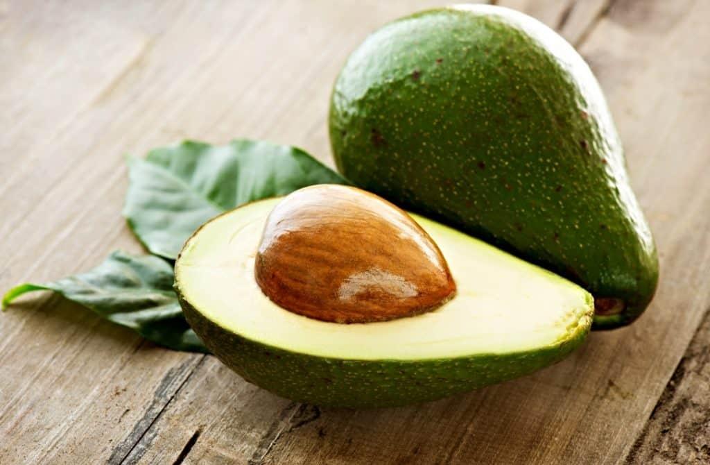 avocado half and whole avocado