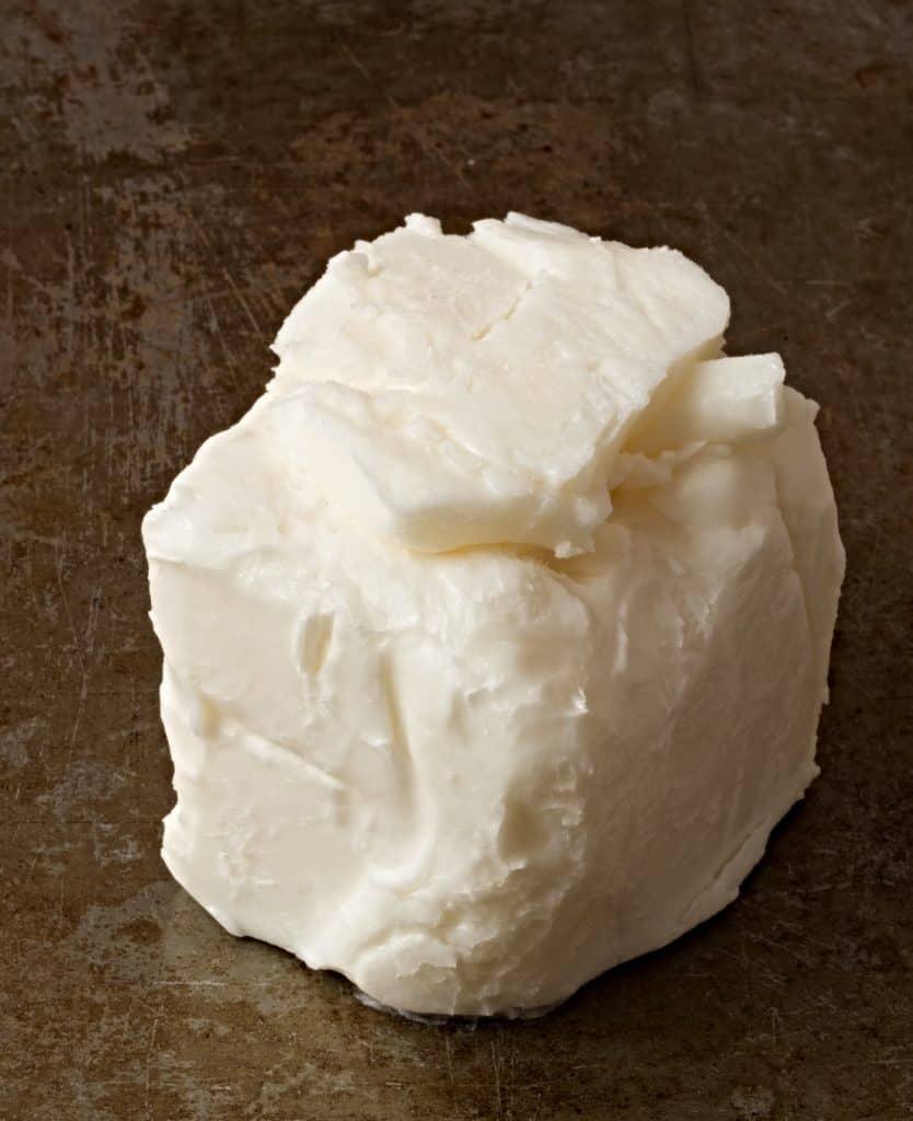block of vegetable shortening