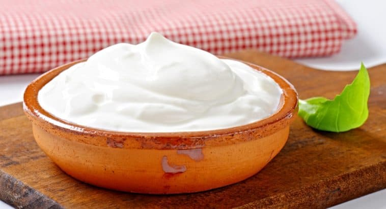 bowl of sour cream for Fromage blanc