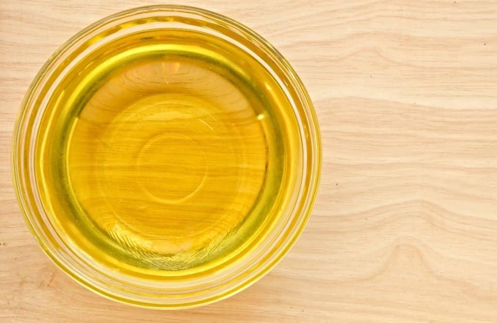bowl of vegetable oil