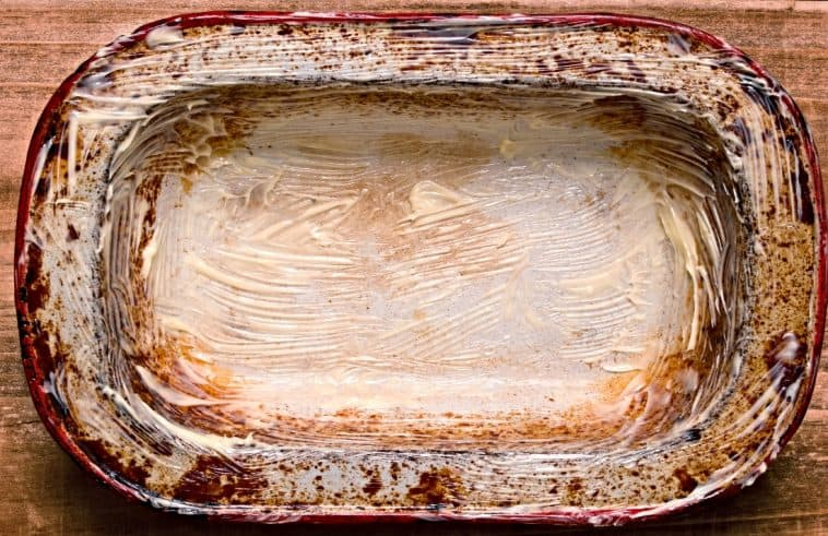butter greased cooking pan