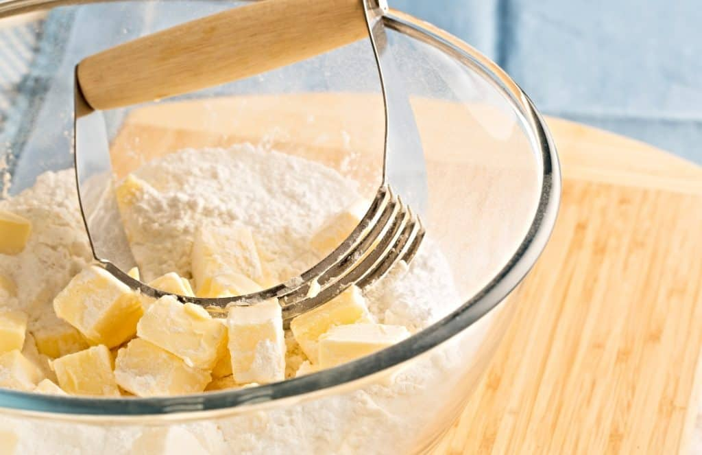 butter in mixing bowl