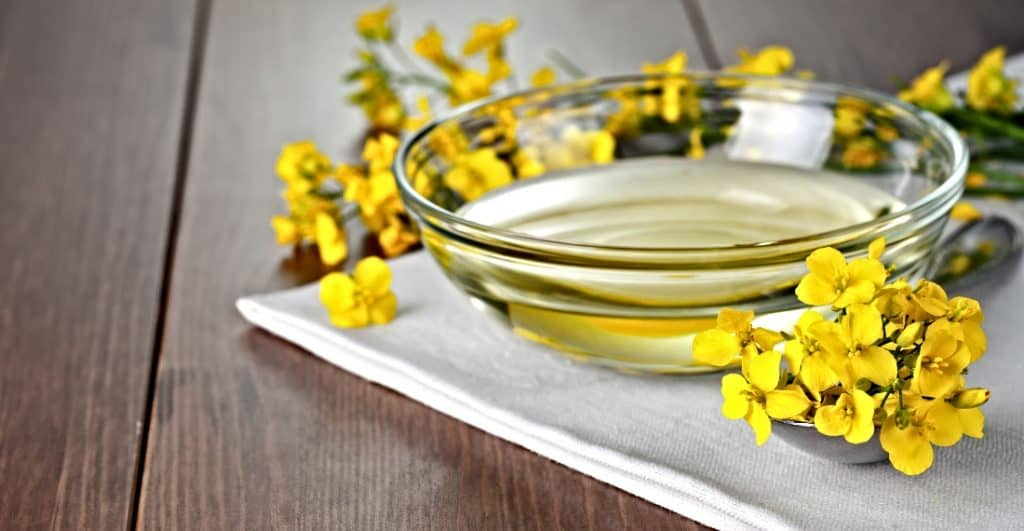 canola oil on towel in bowl
