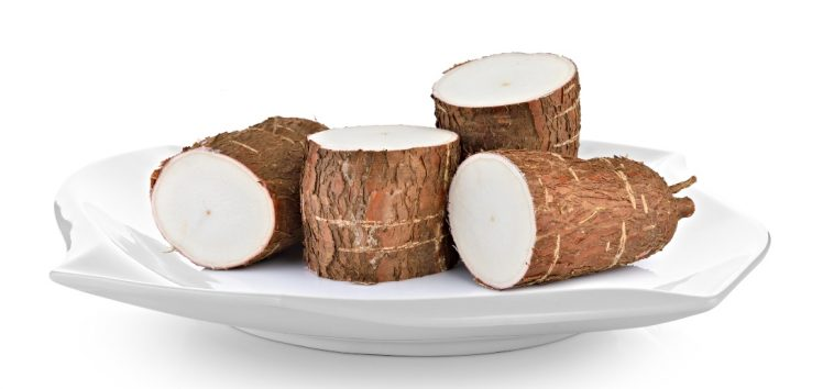 cassava root on dish