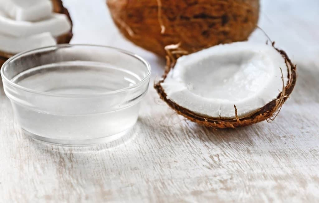 coconut extract and halved coconut