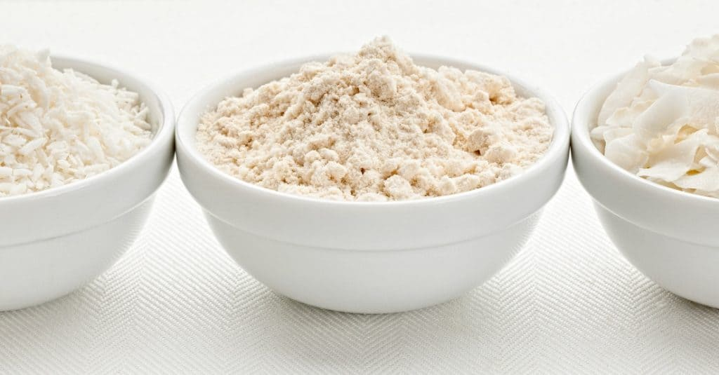 coconut flour in bowl