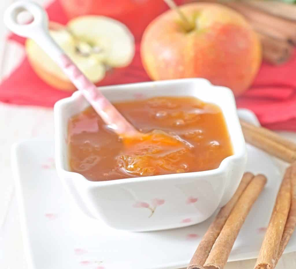 container of apple butter