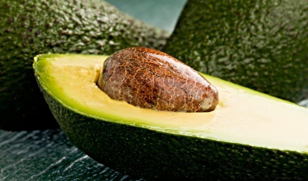cut open avocado