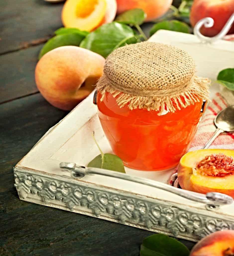 jar of peach preserves