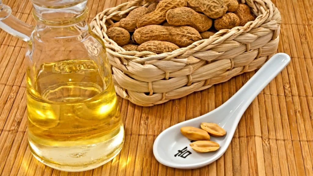 jar of unrefined peanut oil