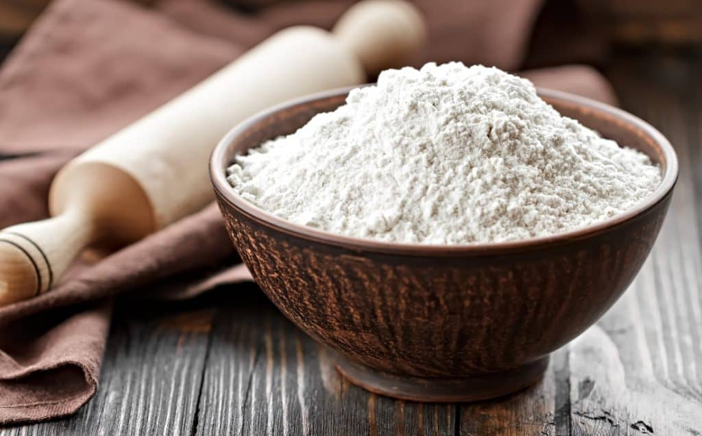 measuring bowl of tapioca flour